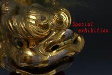 Japan antique gold mask Shishimai Facet kagura Buddhist statue Temple Busho 侍