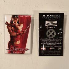 Marvel's X-Men & Daredevil's Elektra Movie Button & Pin 2 Set - Dark Phoenix