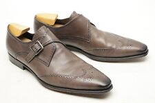 Mezlan Vitoria Mens Monk Strap Loafers 13 M Gray Leather Wingtip Chisel Spain