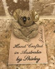 Vintage Pottery Koala Bear Figure Australia By Shirley Mini miniature figurine
