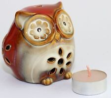 CANDLE HOLDER OWL SHAPED REALISTIC LOOKING SO CUTE FREE TEA LIGHT CANDLE 65MM HI