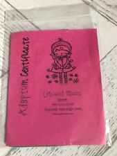 BNIP Sugar Nellie Lola with Flowers Rubber Stamp