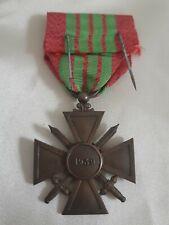 Médaille insigne decoration république française 1939 1 citation sur ruban