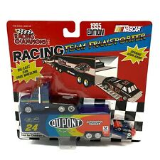Jeff Gordon No. 24 DuPont 1995 Racing Team Transporter with NASCAR Race Car