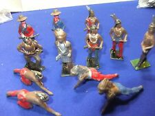 vtg lead cowboys & indians  britains johillco crescent  ? 12 figures