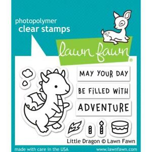Crafts LF Clear Stamp Set Dragon Day Filled with Adventure Flame Birthday Cake