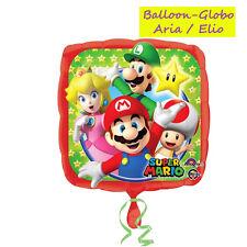 Pallone Mylar Super Mario diametro 45cm Bimbi Festa Party Compleanno Elio Evento