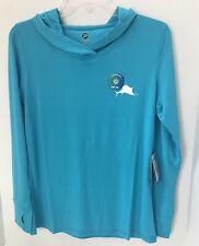 Pelagic Ladies Ultratek Pro Hooded Sun Shirt Aqua Size Medium NWT $59