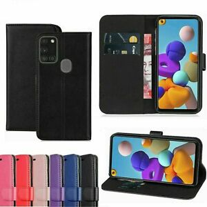 Genuine Leather Wallet Case For Samsung Galaxy M31 Black