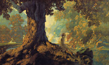 Dreaming  by Maxfield Parrish   Paper Print Repro