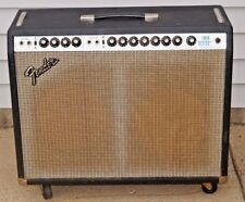 VTG 1970s Fender Twin Reverb Electric Guitar Amp WORKS W/Headset Silverface ORIG