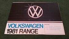 1981 VW RANGE UK FOLDER BROCHURE Polo Derby Golf + GTi Jetta Passat Scirocco -DS