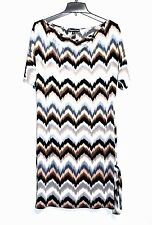 Christine Gerard - S - Blurred Chevron Poly Stretch Jersey Knit Tunic Dress