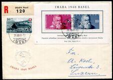 SCHWEIZ 1948 BLOCK13 FDC ERSTTAGSBRIEF 120€(D4523