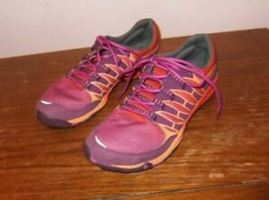 Merrell Women's All Out Fuse Size 7.5M Purple & Orange Barefoot Running Shoes