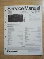 Panasonic Service Manual for the SA-AK70 CD Stereo Music System    mp
