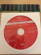 New Sealed DELL Rescue Recovery Disc CD DVD Windows 8.1 64bit OS w/RAM Memory