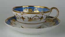 English porcelain 'Canova' landscape tea cup and saucer c1850