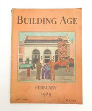 Building Age Magazine Feb 1929 Construction Trade Journal Asbestos Ad Home Plans