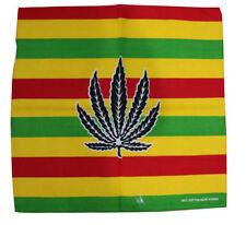 Jamaican,Rasta Colour,Weed Leaf Print  UNISEX Bandana Headwear, Scarves,..