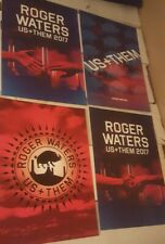 """Roger Waters Us + Them 2017 4 VIP Posters Lithographs  13""""x19"""""""