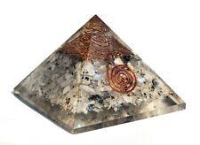 Crystal of Harmony - Rainbow Moonstone Orgone Orgonite Gemstone Pyramid Reiki