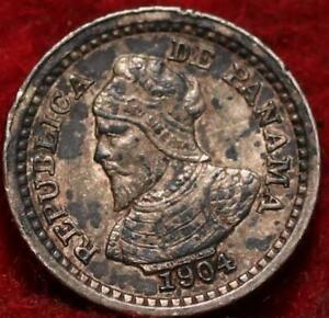 1904 Panama 2 1/2 Centesimos Silver Foreign Coin