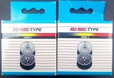 Original Ko-Rec-Type Electronic Printing Calculator Ribbon 6N080C-6 Pack of 2