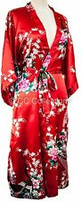 Kimono UK SELLER dressing gown sexy style Peacock Lingerie robe Sexy Red colour