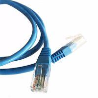 10M (32.8ft) Blue Ethernet Cable Cat5e RJ45 Network Lan Patch Lead 100% Copper