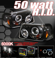 2001-2011 FORD RANGER HALO LED PROJECTOR HEADLIGHTS+HID XENON BLACK PICKUP TRUCK