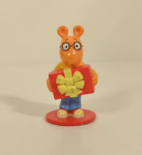 "1997 Arthur & Christmas Birthday Present 2.75"" Unique PVC Action Figure PBS Kids"