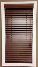 "2"" Printed Faux-Wood Horizontal Blinds Window Treatment NIB Chestnut Medium Tone"