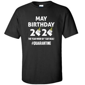 Quarantine Birthday T-Shirt - May Pandemic Virus - Adults & Kids Sizes - Black