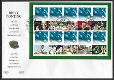 AUSTRALIA 2012 RICKY PONTING Souvenir Sheetlet FDC (No 2)
