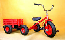 New Kid Ride on Toy All Terrain Pedal Tricycle Trike & Wagon Trailer Set (F80AB)