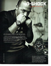 Publicité Advertising 078  2012  montre homme G-Shock  GW A 1000 G. M . Chérif