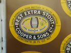 VINTAGE AUS BEER LABEL. COOPER & SONS BEST EXTRA STOUT 26 FL OZ