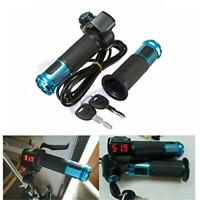 12V-99V Scooter EBike Electric Throttle Grip Handlebar LED Digital Meter w/ Keys