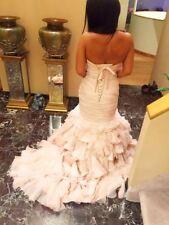 STUNNING Maggie Sottero Divina Organza Blush Tulle Ruffle Mermaid Wedding Gown