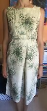 MAX MARA Green and White Cotton Floral Dress size 12 !!Great For Ascott!!