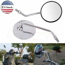 Pair Motorcycle Rear View Rearview Side Round Mirrors Universal 10mm For Honda