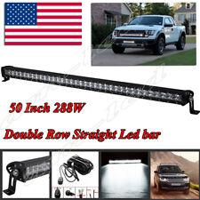 For Jeep Wrangler JK  52 INCH 288W LED WORK LIGHT BAR SPOT OFFROAD 4X4 Lamp 50''