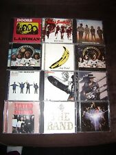 12 CD LOT-ZEPPELIN-SABBATH-DOORS-STONES-VELVET UNDERGROUND-BEATLES-ROCK CD LOT
