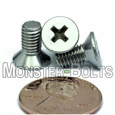M5 x 10mm - Qty 10 - Stainless Steel DIN 965 Phillips FLAT HEAD Machine Screw A2