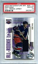 2002-03 RICK NASH BAP Signature Ser All-RC JSY ITG Rookie! PSA 10 GEM MINT POP 1