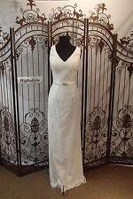 WW105 D'MAE SZ 10 IVORY $379  INFORMAL FORMAL BEADED WEDDING GOWN DRESS