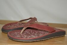 NWOB OLUKAI Womens Paniolo #20129-4343 Red Leather Sandals Size 5