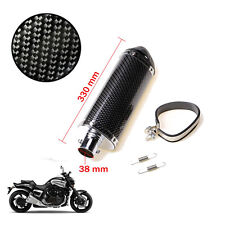 38mm Carbon Fiber Motorcycle Scooter Exhaust Muffler Pipes Silencer Scooter Dirt