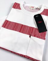 Levi's Crew Neck Sunset Pocket Tee Men's Boink Stripe White 29813-0081